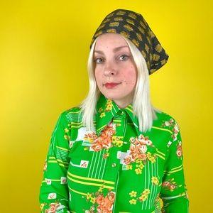 Vintage 1960s paisley headscarf retro bandana